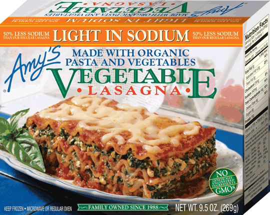 Amy's Light in Sodium Vegetable Lasagna (9.5oz)